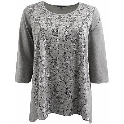 BNY Corner Women Plus Size Dotted Rhinestones Knit Top Tee Blouse Shirt 1X-3X