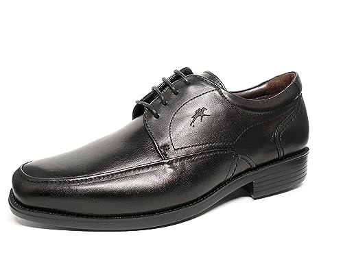 7995 Piel Cordones Fluchos Con Hombre Vestir Zapatos Negro 77 vHY0tvp