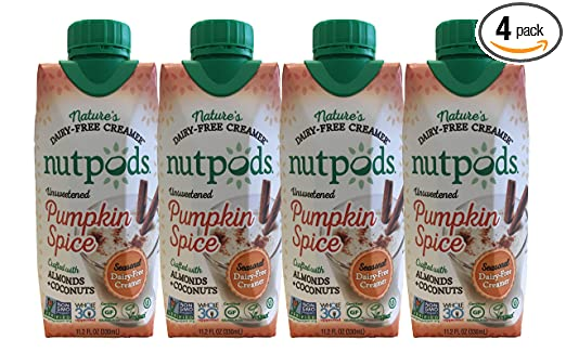nutpods Dairy-Free Creamer Unsweetened (Pumpkin Spice, 4-pack) - Whole30 Approved