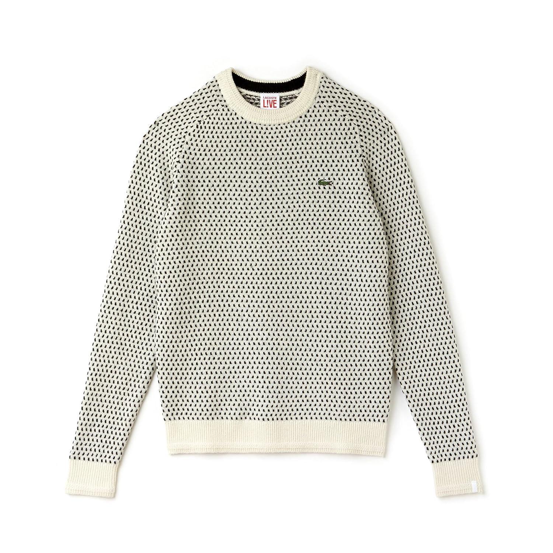 Lacoste L!VE Ah8340 suéter, Gris (Falaise/Noir), X-Large (Talla ...