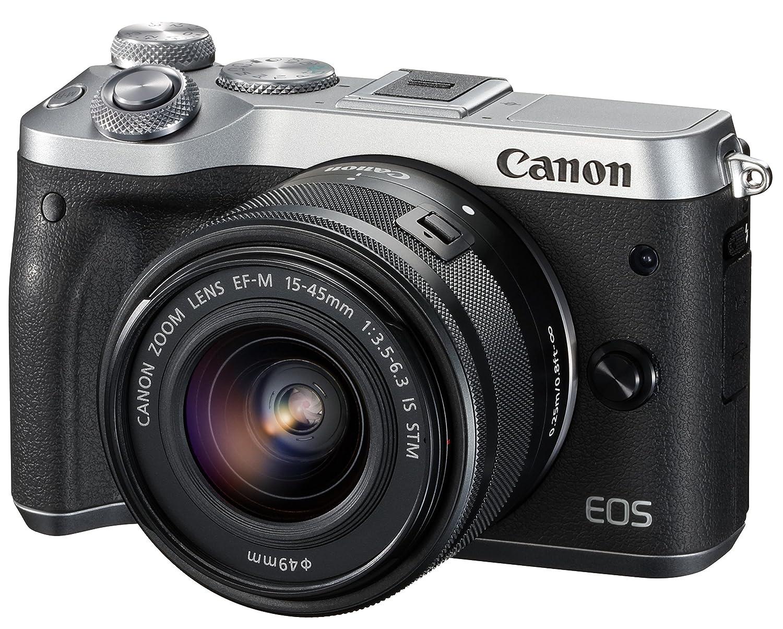 Canon ミラーレス一眼カメラ EOS M6 レンズキット(シルバー) EF-M15-45mm F3.5-6.3 IS STM 付属 EOSM6SL-1545ISSTMLK  シルバー B06X92TNRF
