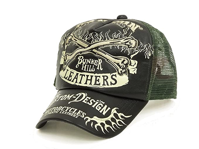 96f4510c175 VANSON Men s Embroidered Faux Leather Mesh Cap NVCP-707 Mesh Back Hat  (One-Size