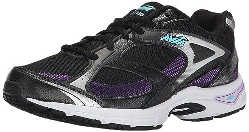 wholesale dealer cd697 58c72 Avia Women s Execute Running Shoe, Black Majestic Purple Winter Blue, ...