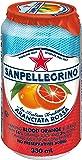San Pellegrino Sparkling Fruit Beverages, Aranciata Rossa/Blood Orange, 330ml Cans (Pack of 24)
