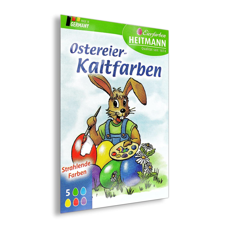 Färbetabletten für Ostereier, Kaltfarben, Eierfarben, 5 Farben für ...