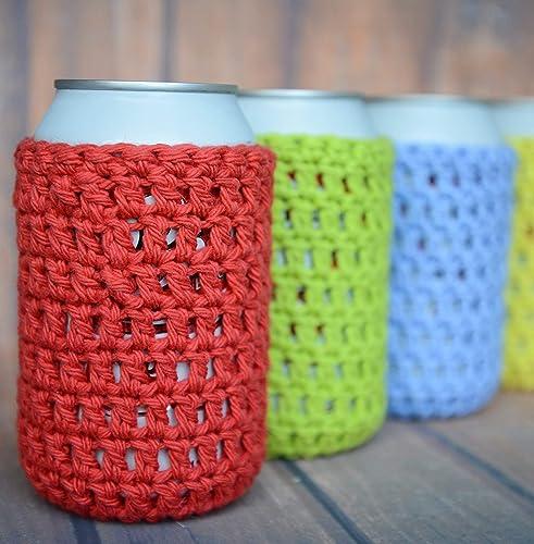 Amazon Crochet Can Sleeve Cozy Handmade