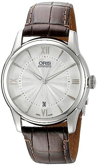 Oris hombre 73376704071ls Artelier pantalla analógica automático suizo marrón reloj: ORIS: Amazon.es: Relojes
