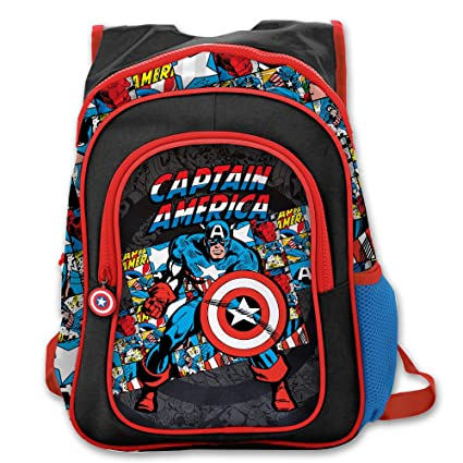 amazon com 1 piece black kids captain america backpack marvel