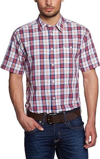 Wrangler - Camisa a Cuadros de Manga Corta para Hombre, Talla 52/54, Color Rojo (High Risk Red p 001): Amazon.es: Ropa y accesorios
