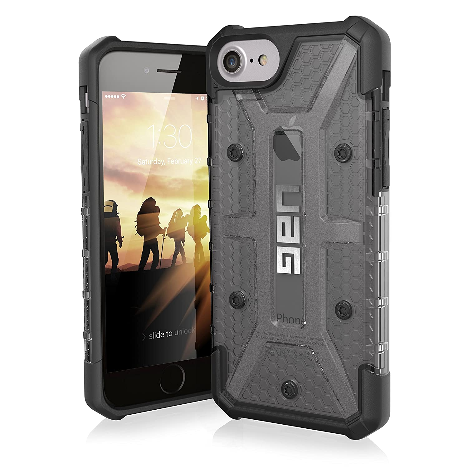 info for 1a3d1 3b517 UAG iPhone 8 / iPhone 7 / iPhone 6s [4.7-inch screen] Plasma Feather-Light  Rugged [ASH] Military Drop Tested iPhone Case