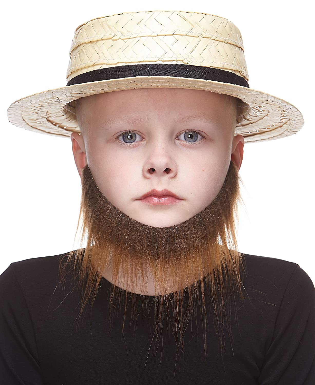 Mustaches Selbstklebende Kleiner Morman F/älschen Bart f/ür Kinder Braun Farbe