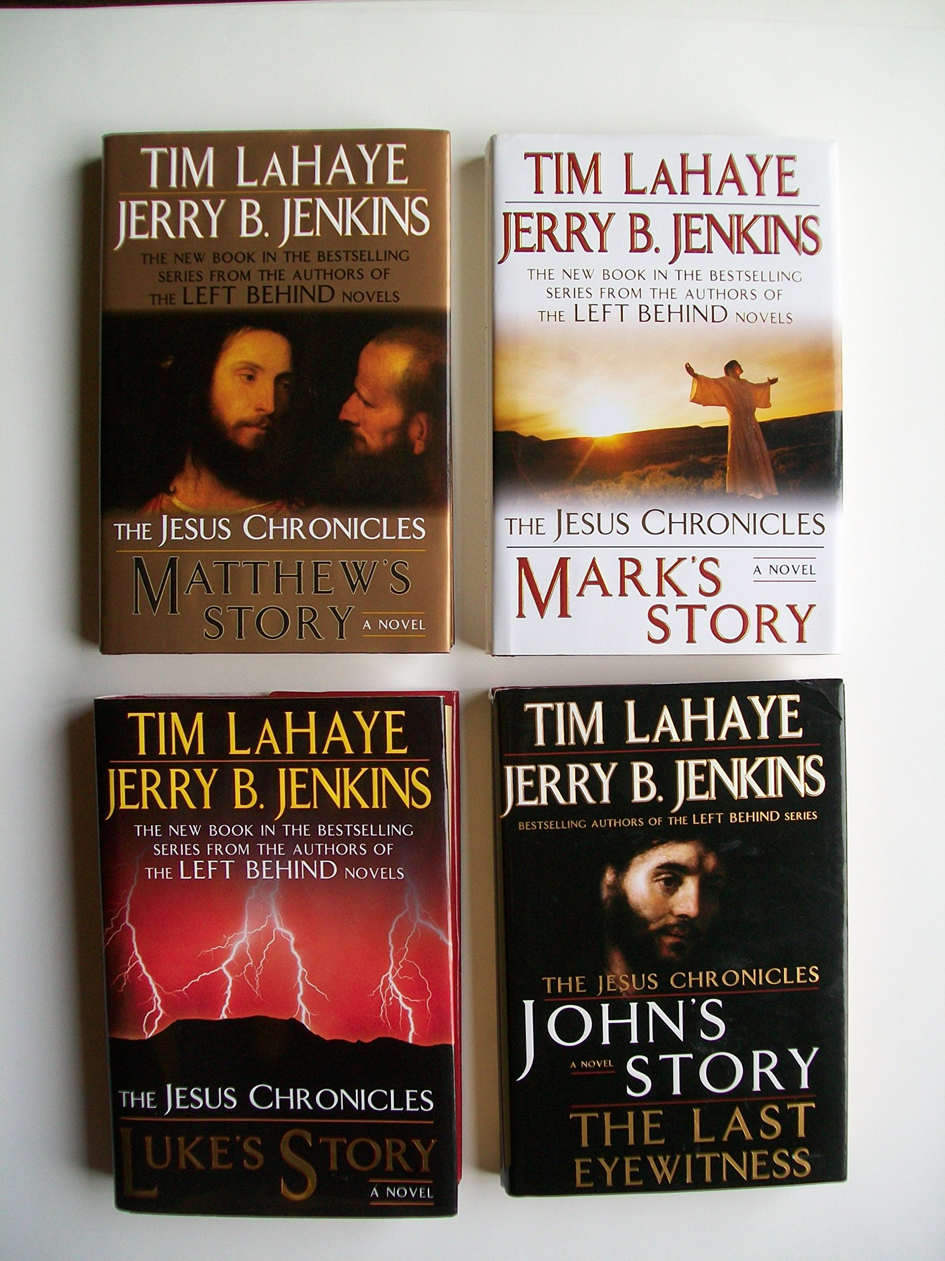 The Jesus Chronicles Set Of 4 Matthew S Story Mark S Story Luke S Story John S Story Tim Lahaye Jerry B Jenkins Books