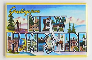 Greetings From New Hampshire Fridge Magnet (2 x 3 inches)