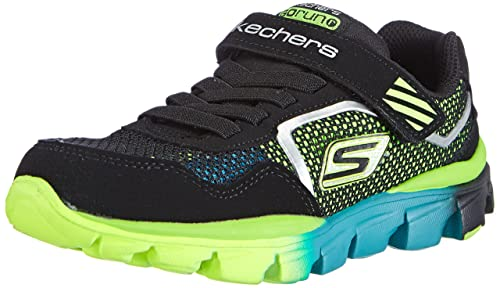 Skechers Go Run Ride Lil Rider Boys Trainers Black Bklm