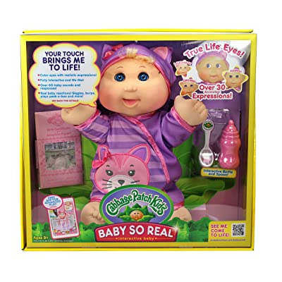 "Cabbage Patch Kids 14"" Baby So Real Blonde: Toys & Games"