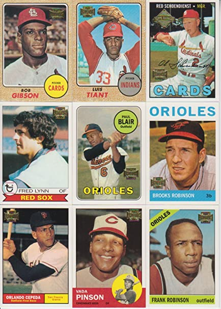 2002 Topps Archives Baseball 10 Card Lot Bob Gibson 13 55