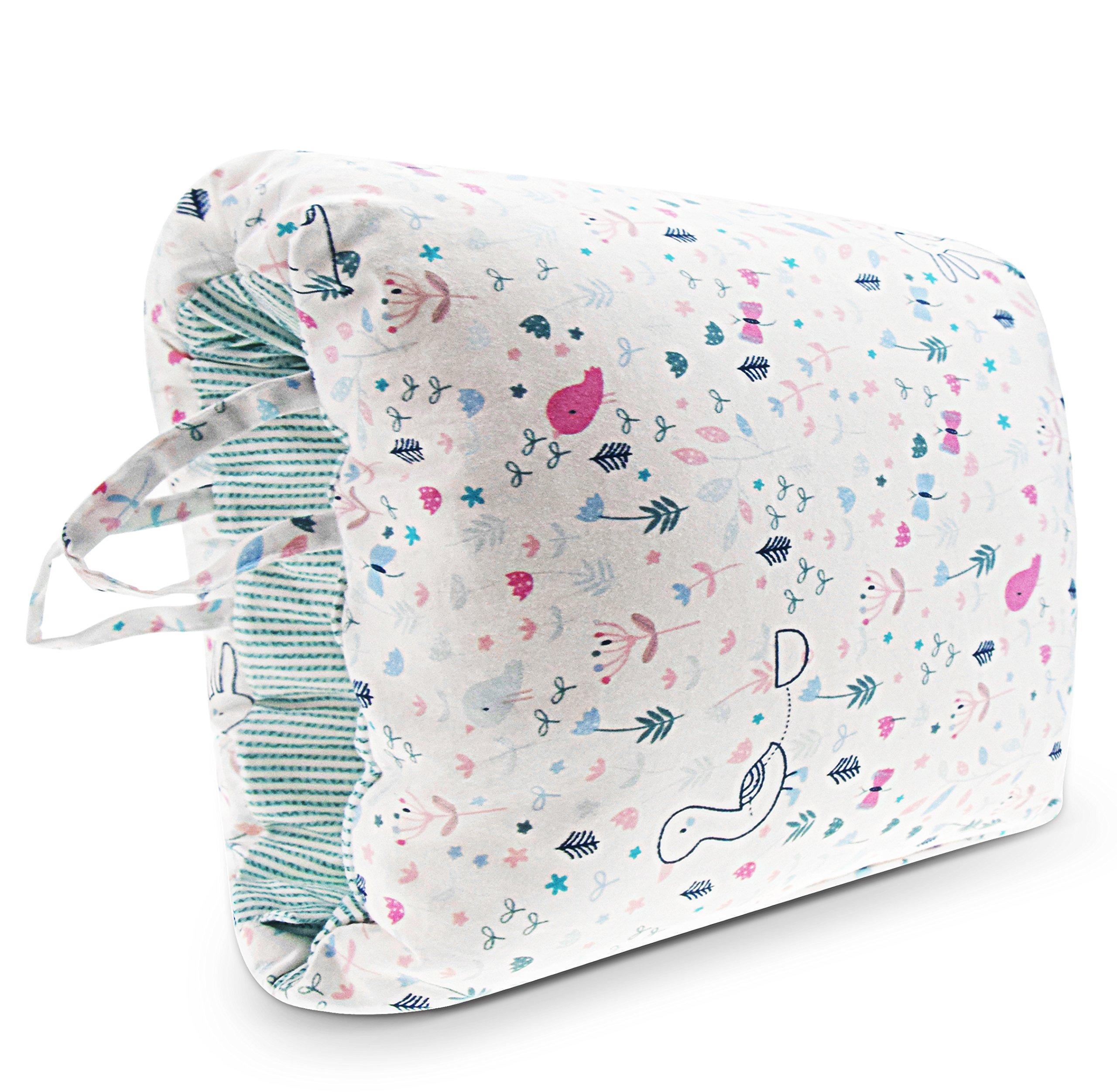 Epltion Travel Nursing Pillow for Breastfeeding/Arm Breastfeeding Pillow for C-Sections Mom/Portable Washable Nursing Pillow Rabbit