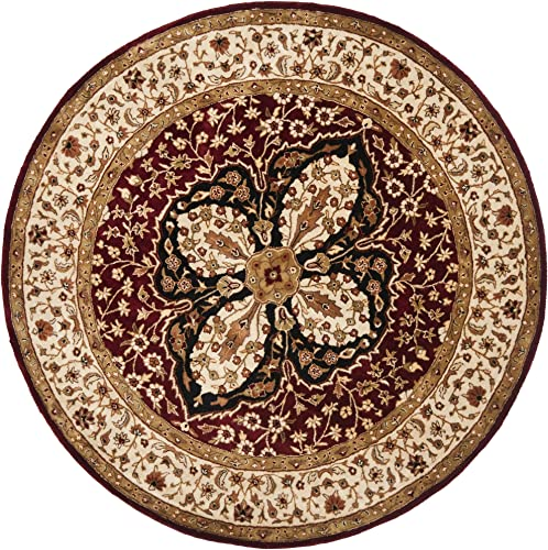 Safavieh Persian Legend Collection PL522A Handmade Traditional Red and Beige Wool Round Area Rug 6' Diameter