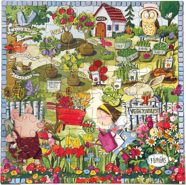 eeBoo Growing a Garden Puzzle for Kids, 64 Pieces