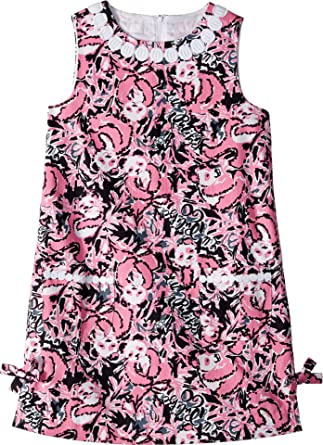 1f81fff86 Amazon.com: Lilly Pulitzer Kids Baby Girl's Little Lilly Classic Dress  (Toddler/Little Kids/Big Kids) Hibiscus Pink Hangin with My Boo 8: Clothing