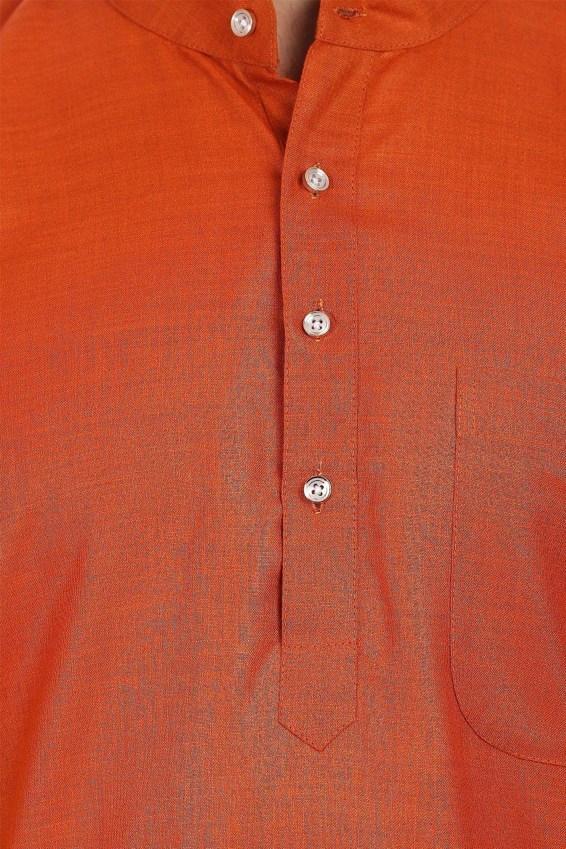 Wintage Men's Cotton Silk Festive and Casual Red Kurta Pyjama by WINTAGE (Image #2)