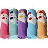 My Newborn Baby Wrapper with Baby Blanket, Multicolor (Pack of 5)