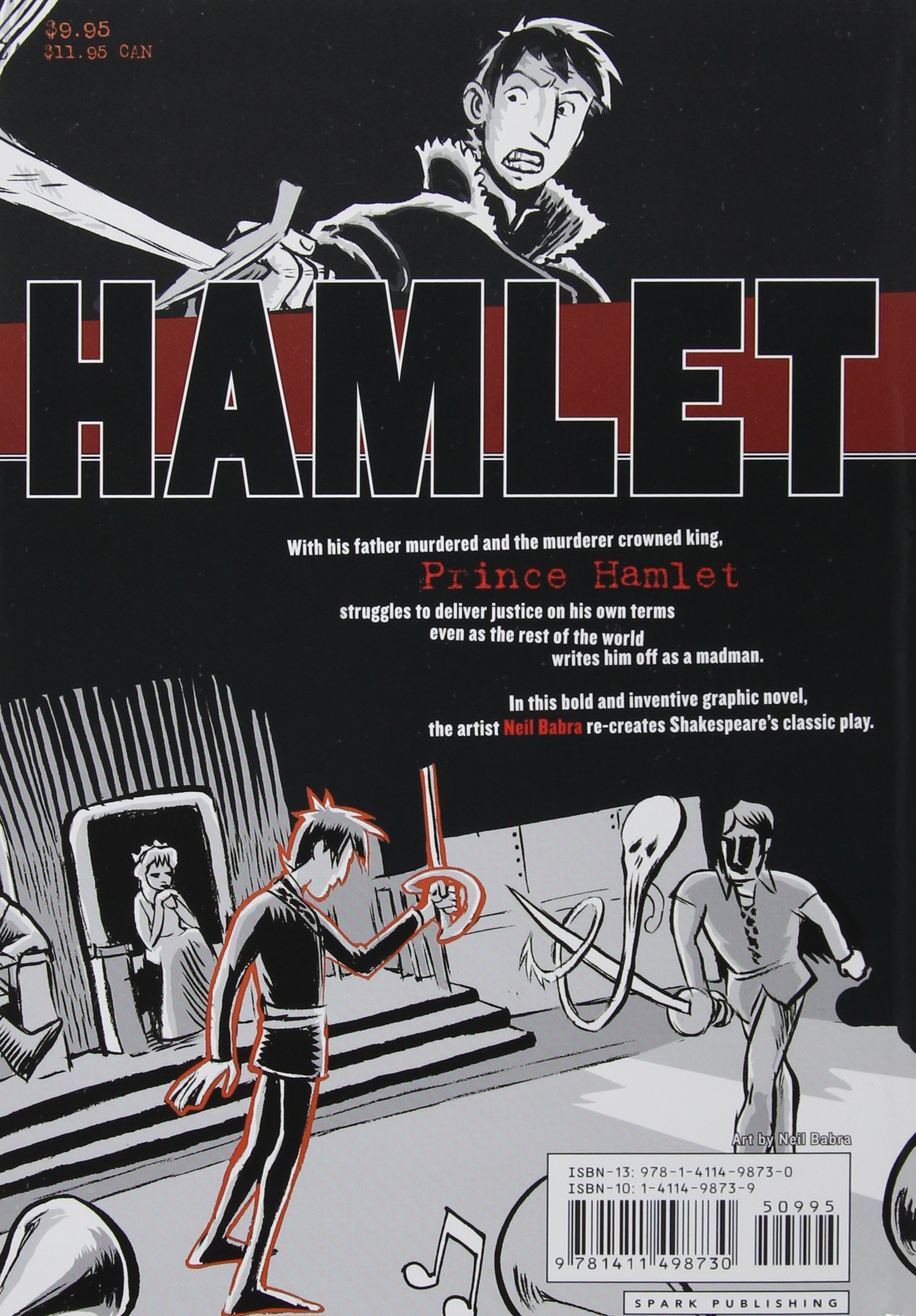 Hamlet (No Fear Shakespeare Graphic Novels): Neil Babra, William ...