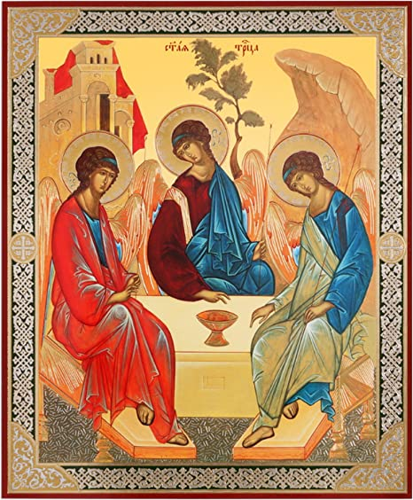 Religious Gifts Russian Orthodox Holy Trinity Icon Old Testament Trinity  Rublev 8 3/4 Inch: Amazon.ca: Home & Kitchen