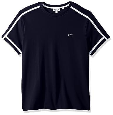968ec24c4c Lacoste Men s Short Sleeve 3 Ply Regular Fit Pique Tee with Outline Croc