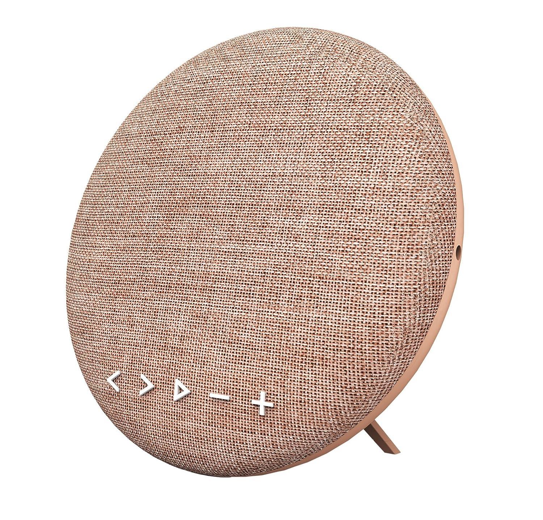 Soundance 12W Altavoz Bluetooth estéreo inalámbrico para el hogar con Conector de Audio, hasta 10 Horas de reproducción 15m Bluetooth Range, Soporte TF/Tarjeta Micro SD, púrpura