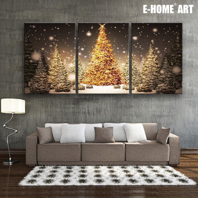 christmas living room lighted canvas wall art