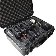 Case Club Waterproof 4 Pistol & 16 Magazine Case with Accessory Pocket & Silica Gel to Help Prevent Gun Rust