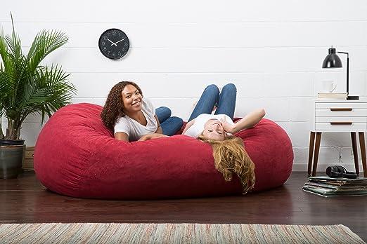 Amazon big joe xxl fuf foam filled bean bag chair comfort amazon big joe xxl fuf foam filled bean bag chair comfort suede sierra red kitchen dining solutioingenieria Choice Image
