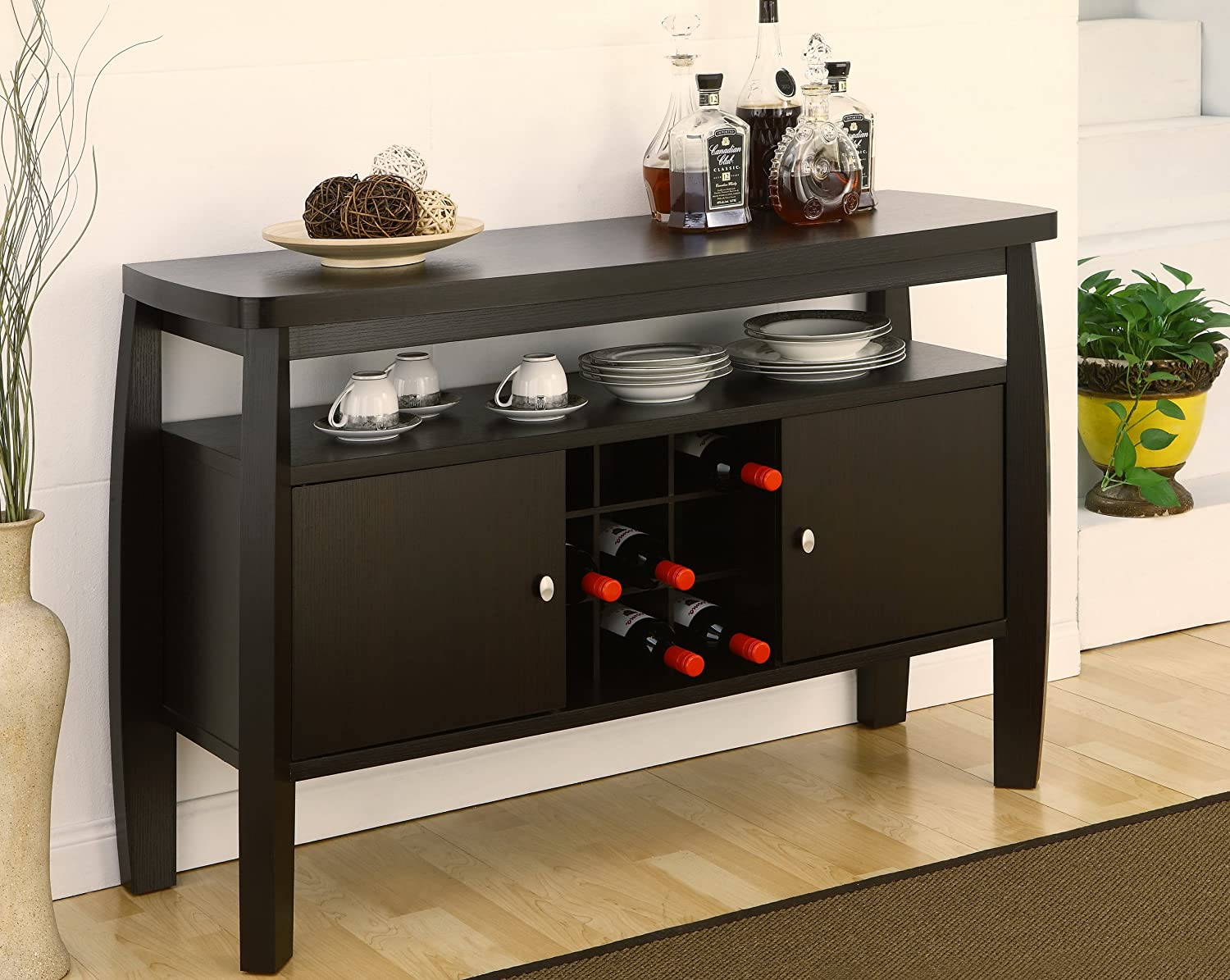 Amazon com   ioHOMES Clyton Dining Buffet  Dark Espresso   Buffets    Sideboards. Amazon com   ioHOMES Clyton Dining Buffet  Dark Espresso   Buffets