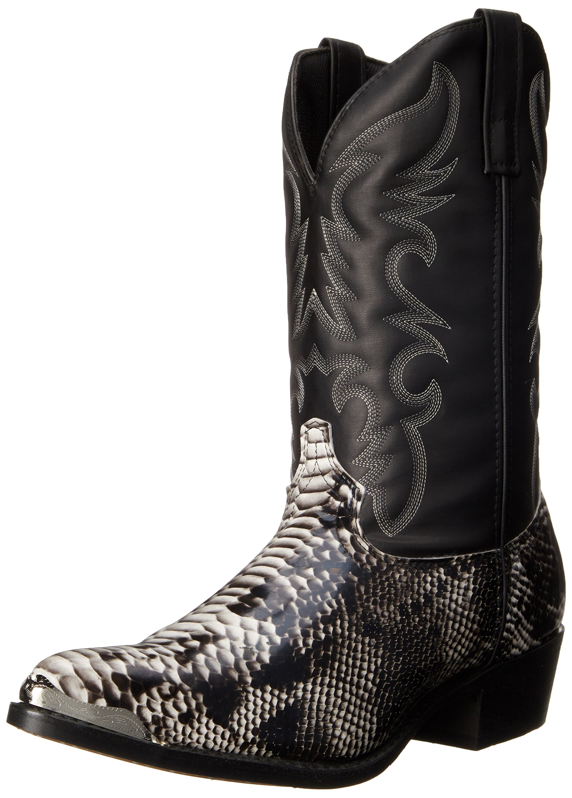 Laredo Men's 68067 Monty Western Boot,Black/White,11 XW US