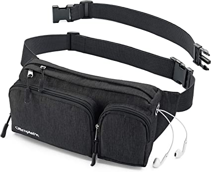 Unisex Science Time Fanny Pack Waist Bag Phone Holder Adjustable Running Belt For Hiking Gym