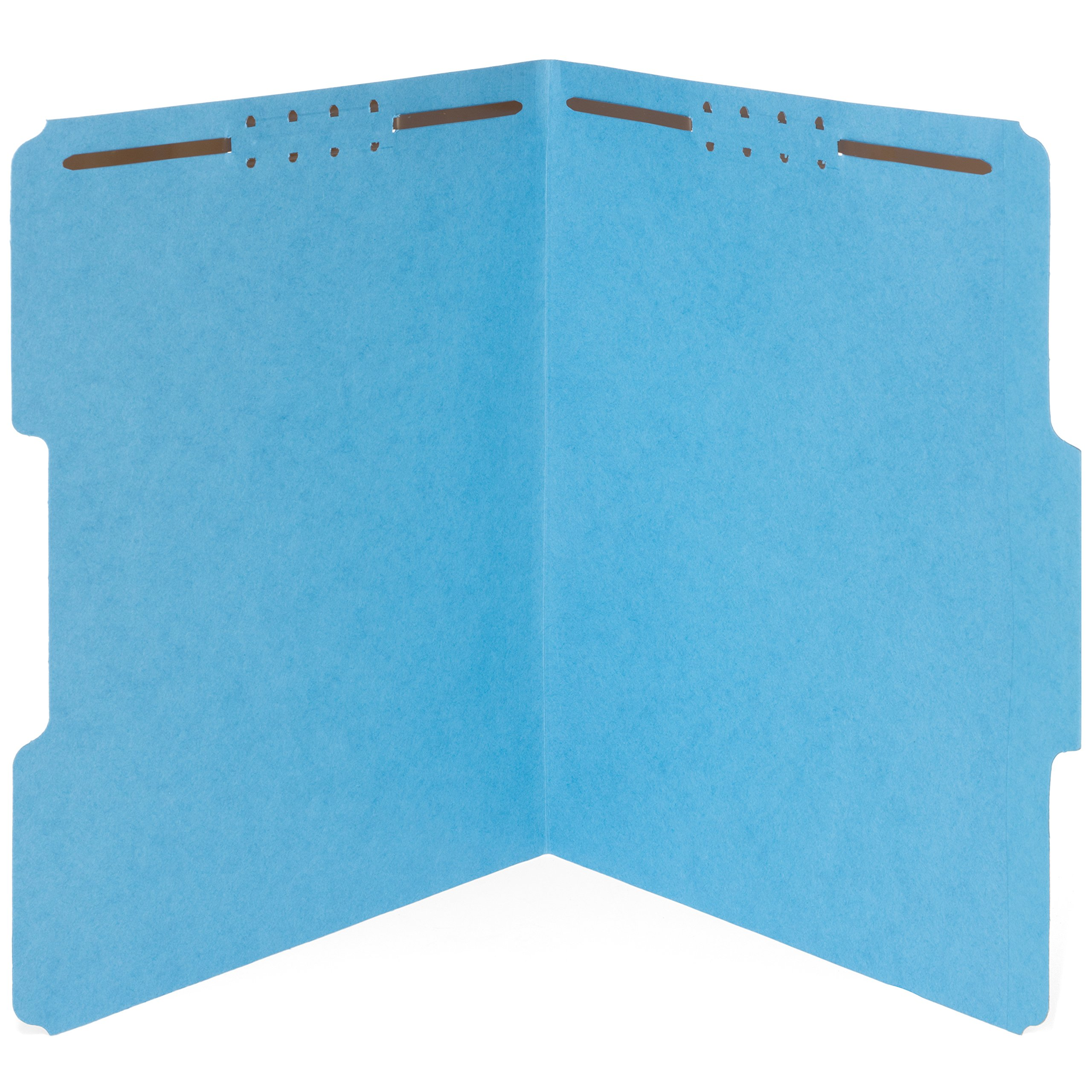 50 Fastener File Folders- 1/3 Cut Reinforced tab- Durable 2 Prongs Designed to Organize Standard Medical Files, Law Client Files, Office Reports– Letter Size, 50 Pack (Blue)