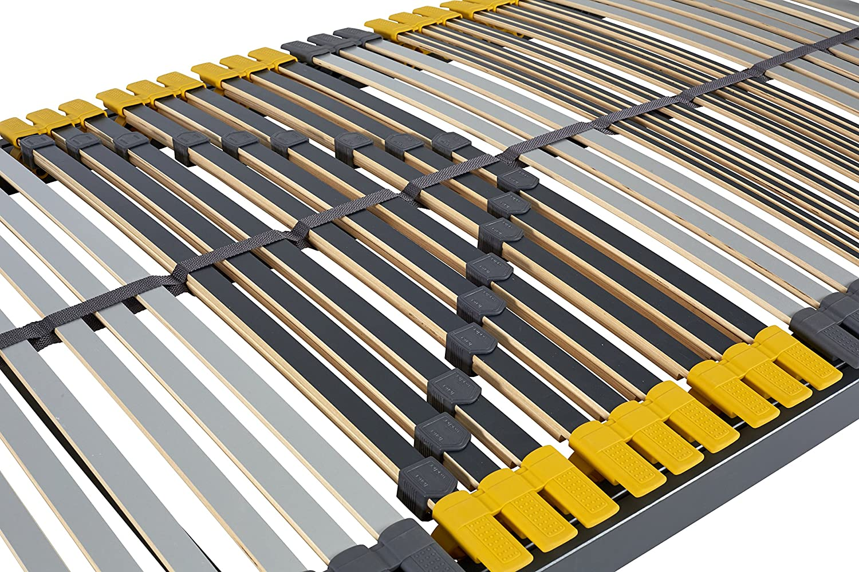 Hilding Sweden Sweden Sweden Lattenrost, 140 x 200 cm, mit 28 Latten aus Holz (nicht verstellbar), Fertig montiert, Geeignet für alle Matratzen, Härtegrad 5-fach justierbar f08447