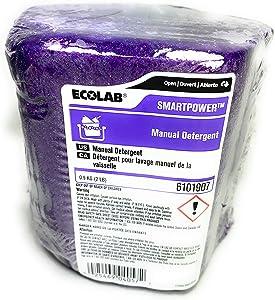 ECOLAB Smart Power Manual Dish Pot Pan Detergent 6101907 (2 Lb Block)