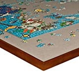 """Puzzle Table Large Rotating 1500 - Piece, Gray Felt Puzzle Mat/Jigsaw Puzzle Board Spinner/Lazy Susan for Puzzle Storage Sorting & Making Puzzles, Board Games, Cards, 34"""" x"""