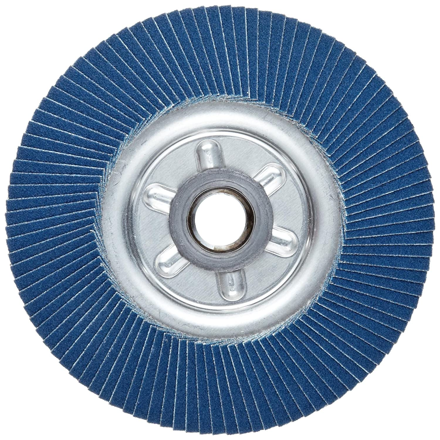 Zirconia Alumina Weiler Tiger Abrasive Flap Disc Aluminum Backing 120 Grit Type 29 Pack of 1 Threaded Hole 4-1//2 Dia.