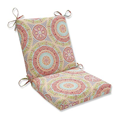 "Pillow Perfect Outdoor/Indoor Delancey Jubilee Square Corner Chair Cushion, 36.5"" x 18"", Multicolored: Home & Kitchen"