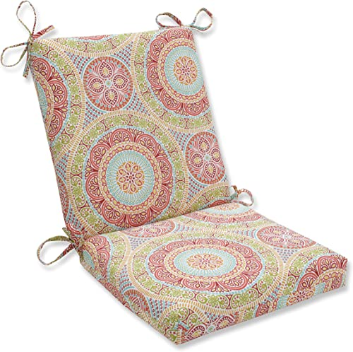 Pillow Perfect Outdoor Indoor Delancey Jubilee Square Corner Chair Cushion, 36.5 x 18 , Multicolored