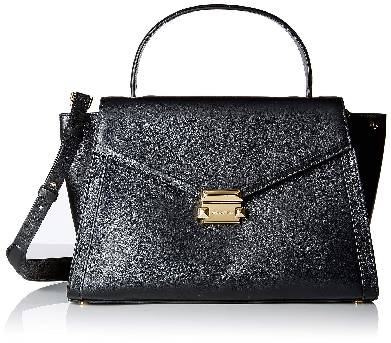 b2e38532adeec7 Michael Kors Womens Whitney Satchel Black (Black): Amazon.co.uk: Shoes &  Bags