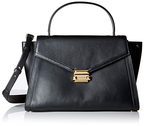 bbf696d61279b4 Michael Kors Womens Whitney Satchel Black (Black): Amazon.co.uk ...