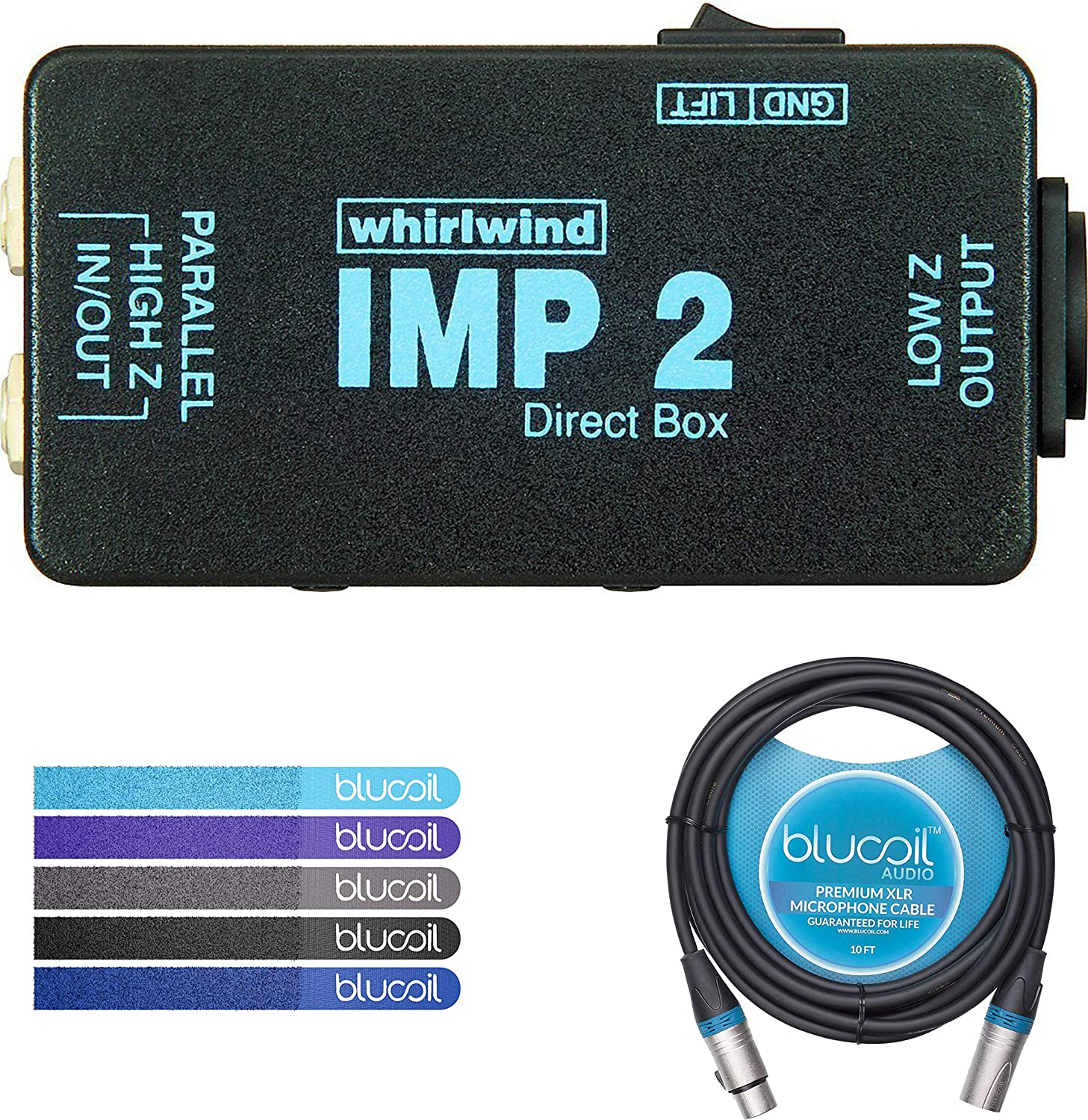 Whirlwind IMP 2 - Caja pasiva directa con 1 canal (incluye cable ...