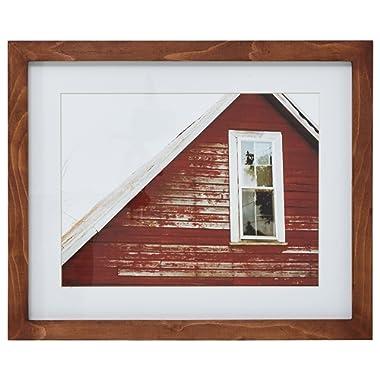 Modern Rustic Red Barn Photo - 18 x 22 Inch Frame, Rustic Brown