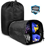 aGreatTravel Travel Organizer Bag, Compression Stuff Sack Organizer for Everyday Travelers, Camping & Hiking, Pack by Day or by Type, Waterproof Space Saving Bag with 4 Spacious Compartments