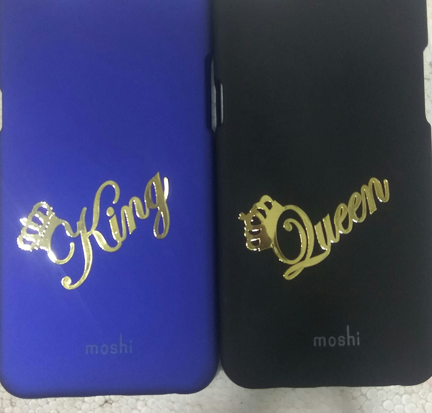 Vivo v5 2 mobile cover with king queen metal stiker phone cover blue black amazon in electronics