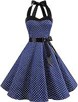 Dresstells Neckholder Rockabilly 50er Vintage Retro Kleid Petticoat Faltenrock